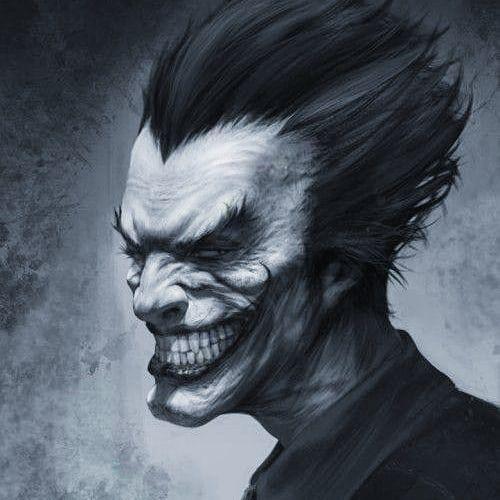 joker blanco y negro guason imagen arte