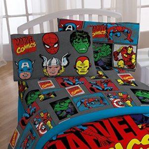 edredon marvel, edredon superheroes, juego de sabanas superheroes