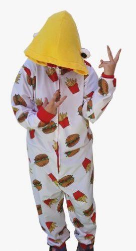 chica pijama fortnite, pijama de hamburguesa fortnite, fortnite pijamas
