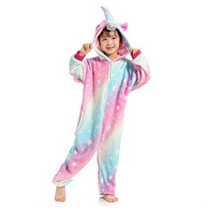 Pijamas de Unicornio Enteros con capucha, pijamas de unicornio para niñas