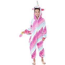 Pijamas de Unicornio Enteros con capucha