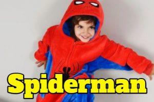 Pijamas superheroes spiderman para hombre mujer o niños