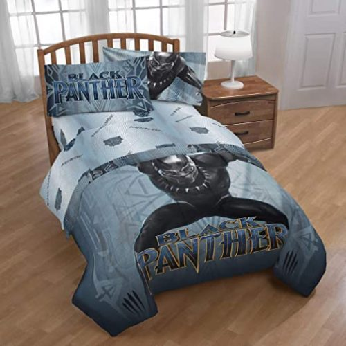 juego de sabanas marvel black panther, edredón marvel, sabanas superheroes