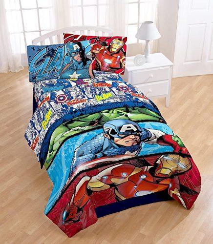 cubrecama superheroes, juego de sabanas de superheroe, sabanas ropa de cama superheroes