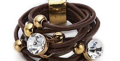 anillos de cuero, anillo de cuero trenzado