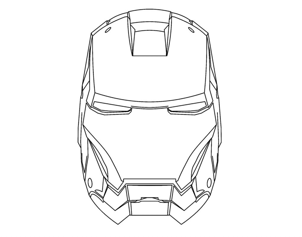 DIY Ironman Mask by deejaywill 1024x802 - Iron Man para colorear