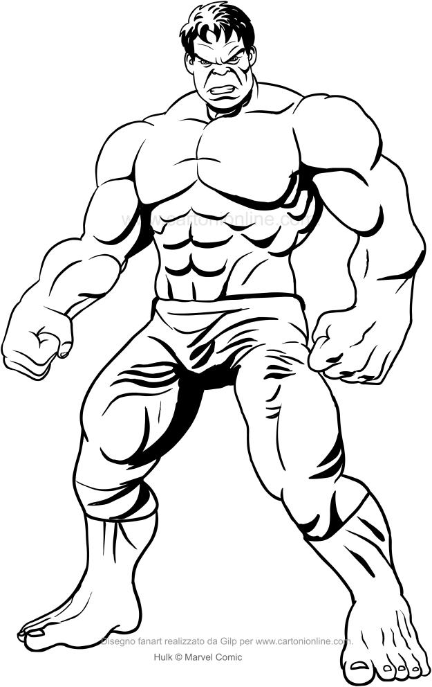 Hulk 03 - Dibujos de Hulk para colorear