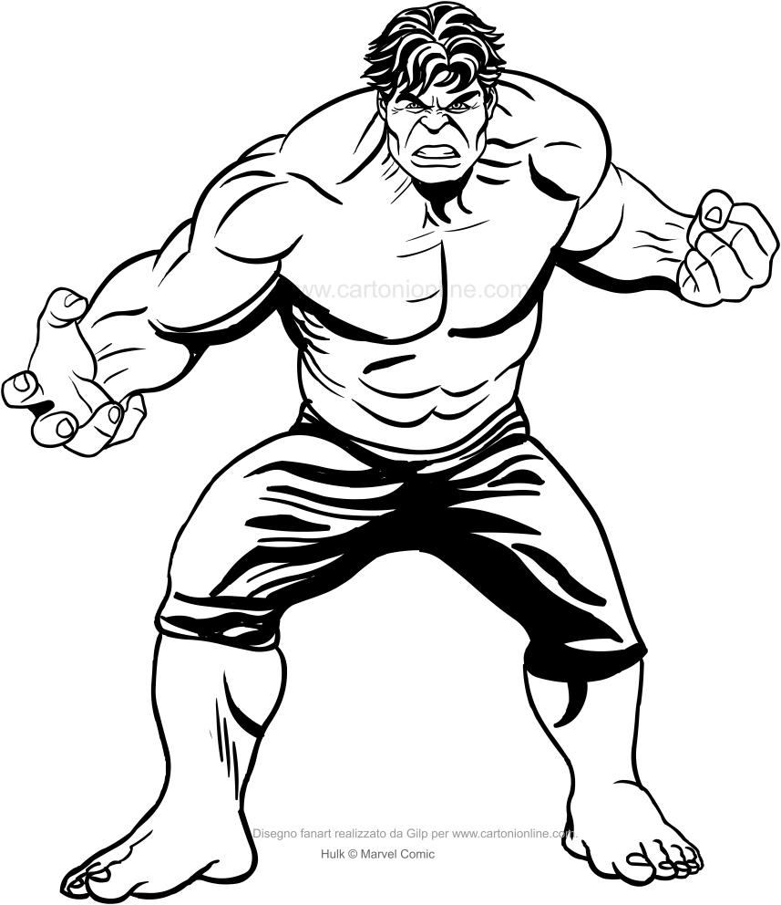 Hulk 06 - Dibujos de Hulk para colorear