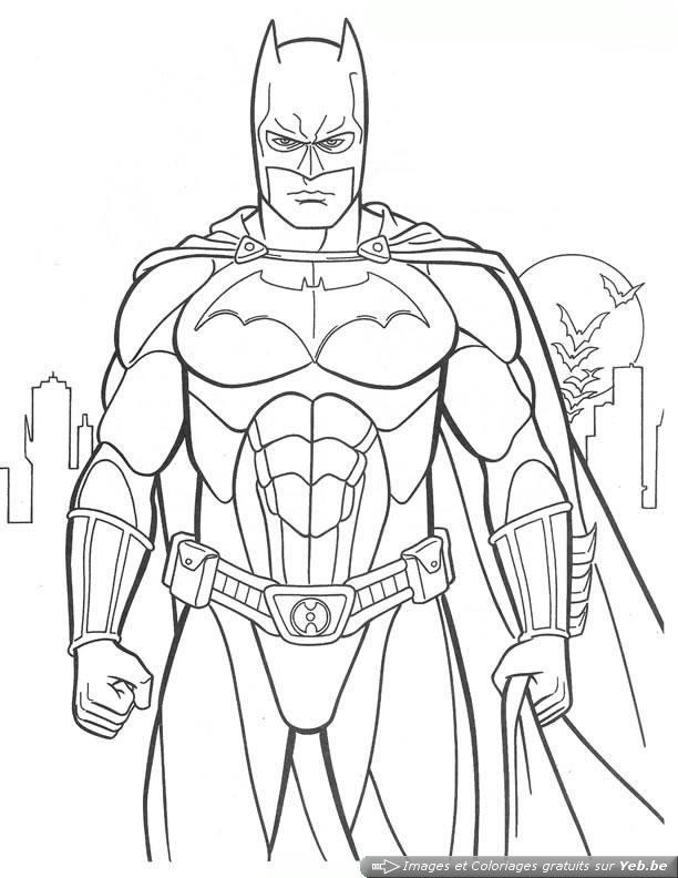 dibujos de superheroes para colorear 111 - Superhéroes para colorear