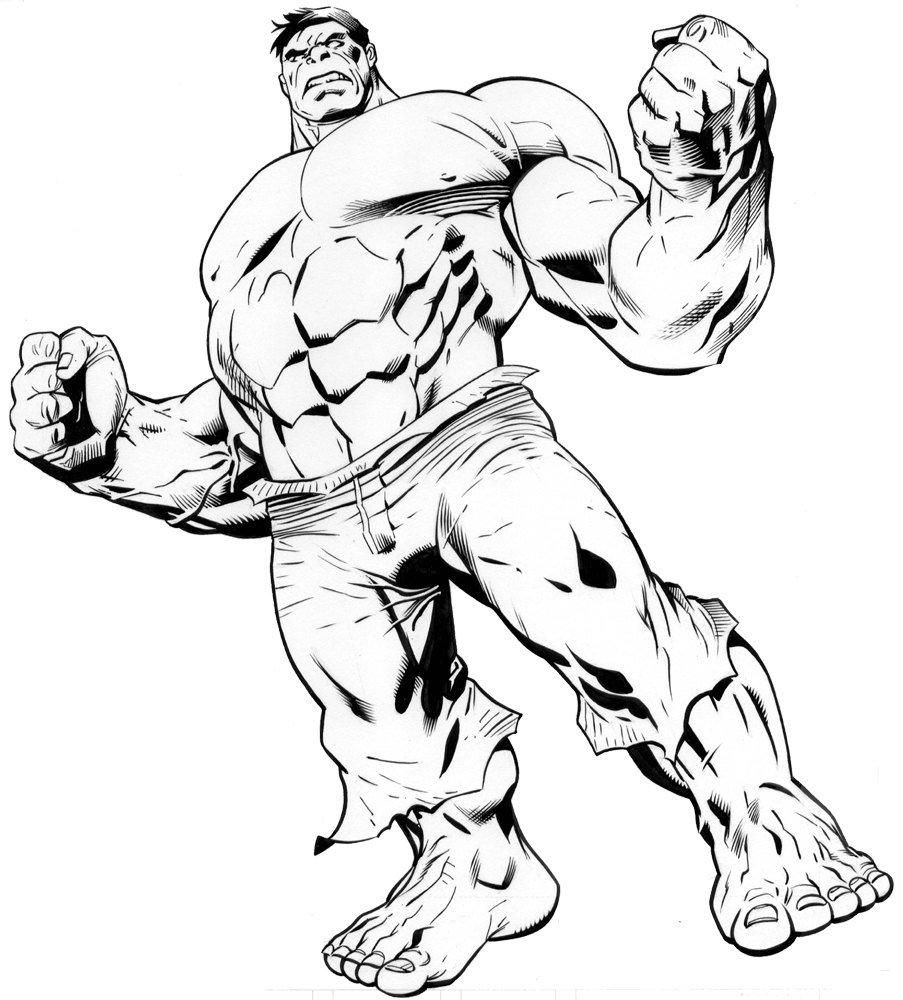 dibujos para colorear de hulk - Dibujos de Hulk para colorear