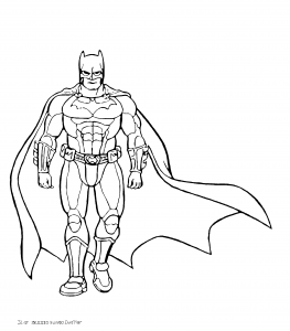 drawing batman 35 263x300 - Superhéroes para colorear
