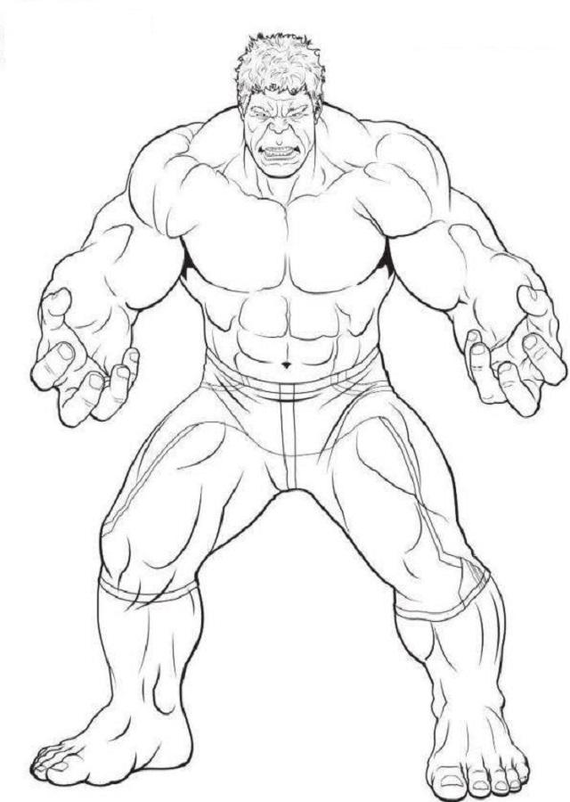 hulk - Dibujos de Hulk para colorear