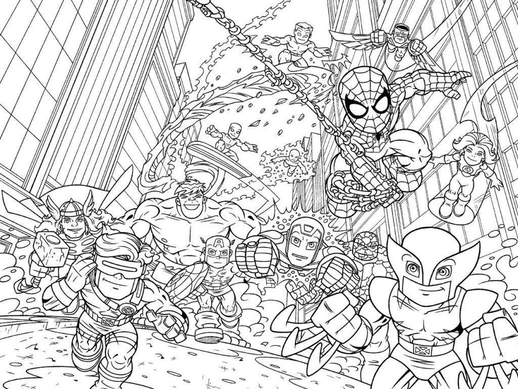 superheroes - Superhéroes para colorear
