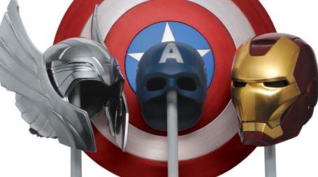 regalos de superheroes, merchandising y relados productos de Marvel los vengadores