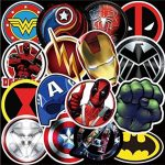 pegatinas adhesivas calcomanias stickers de superheroes