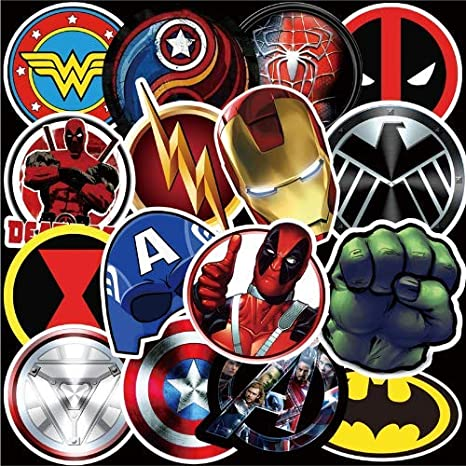 pegatinas adhesivas calcomanias stickers de superheroes