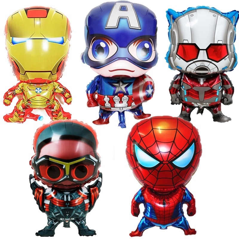 globos de superhéroes batman spiderman superman iron man metalizados