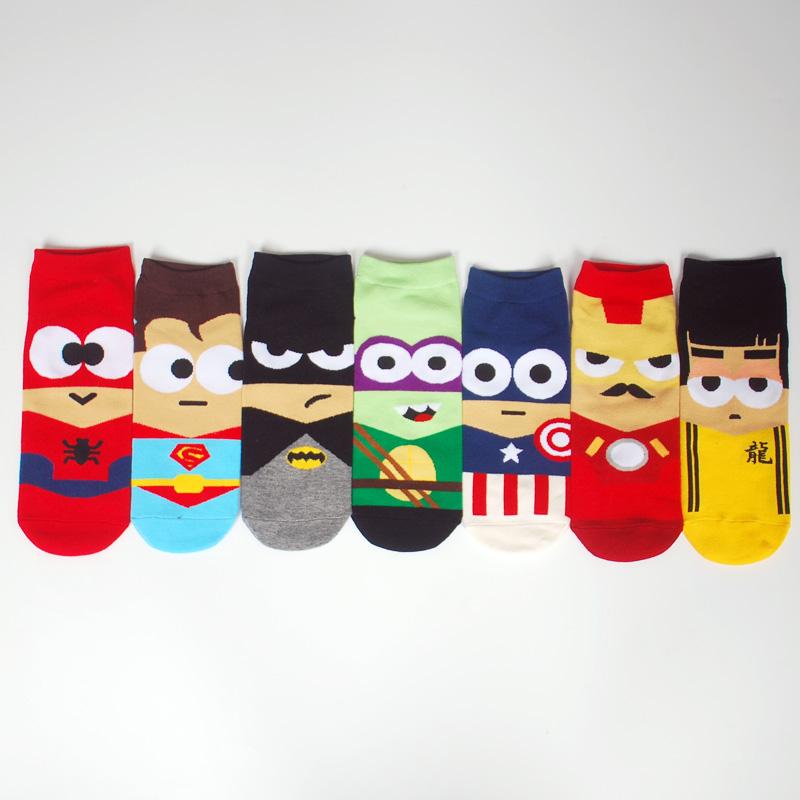 Calcetines de superheroes baratos divertidos comodos