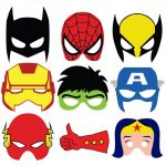 antifaces y máscaras de superheroes