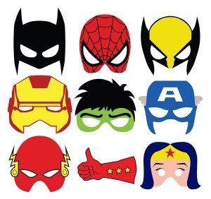 Máscaras para imprimir de súper héroes 300x282 - Disfraces Frikis para el Carnaval y el día del orgullo friki