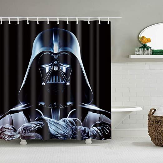 cortinas frikis, cortina de baño friki, cortina de baño star wars