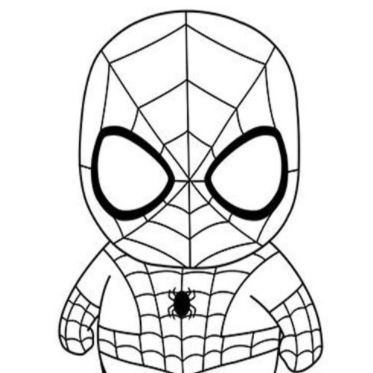 como dibujar a spiderman kawaii