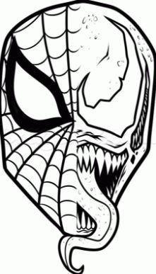 dibujo de spiderman venom para colorear a imprimir