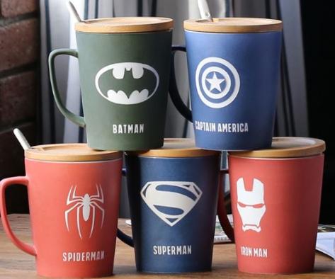 Tus superhéroes favoritos en tazas: ¿Spiderman, Batman o Baby Groot?