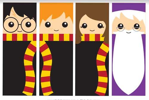 Separadores Marcapáginas Harry Potter para imprimir, caseros
