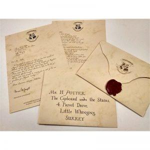 carta de hogwarts personalizada, comprar carta de hogwarts, carta aceptacion hogwarts personalizada, cartas de harry potter