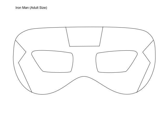 plantilla Máscaras y antifaces Imprimibles de Superhéroes para Fiestas