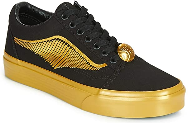 Zapatillas bajas para hombre, color negro y  dorado Harry Potter