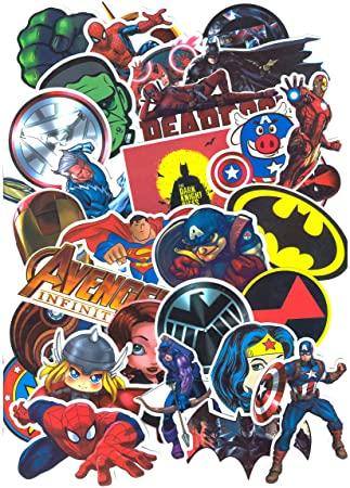 pegatinas de superheroes para comprar o imprimir