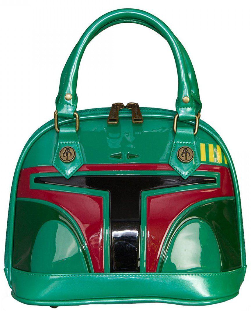 Loungefly Star Wars Boba Fett Patent Mini Dome Bag: Handbags ...