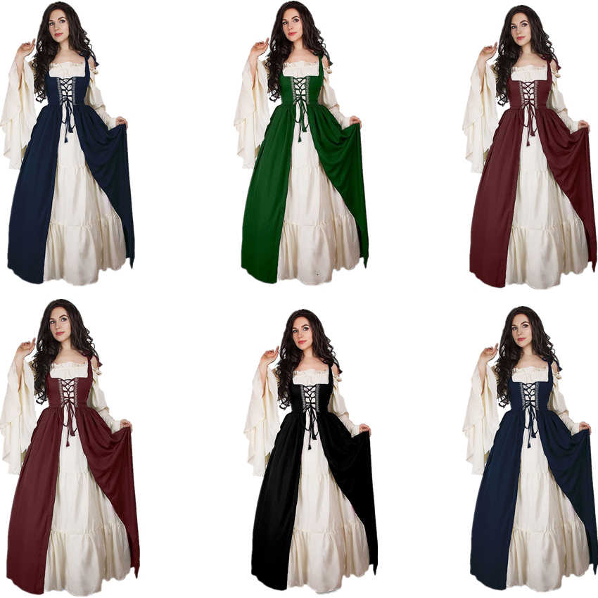 Vestido Medieval Cosplay, moda friki mujer
