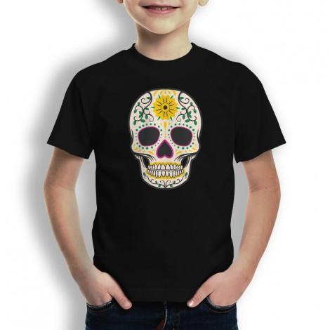 camiseta para niños con calaveras, camiseta de calaveras para niños