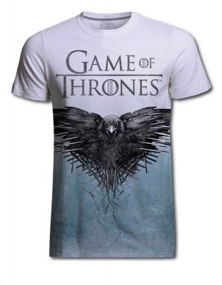 Camiseta cuervo. Juego de Tronos - comprar camisetas de series, camisetas series