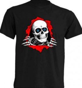 camiseta de calavera, camisetas de calaveras, catálogo de camisetas de calaveras