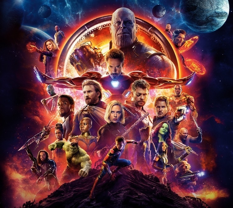 Vengadores: Infinity War top 50 peliculas de superheroes