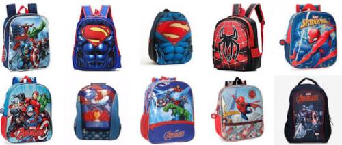 ▷ Gran Colección de Mochilas de Super heroes mochilas de superheroes originales para niños y niñas