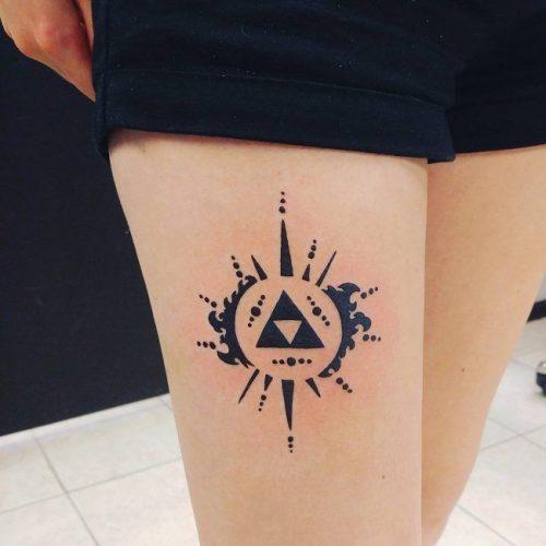 tatuajes frikis pequeños trifuerza triforce, tatuajes frikis zelda triforce