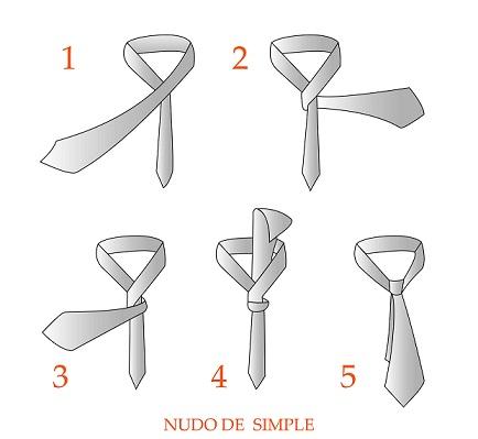 como hacer un nudo de corbata simple paso a paso