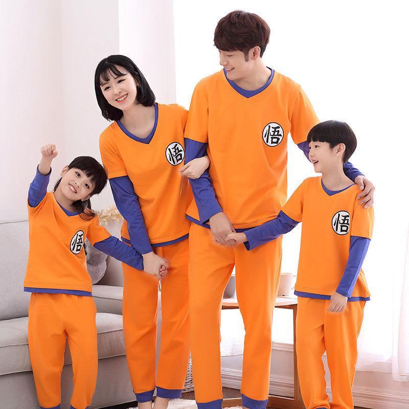 Compre Dragon Ball Pijamas Familiares Conjunto Traje De Navidad ... pijama goku bebe, pijama goku