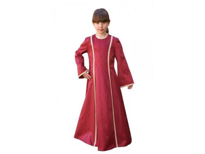 Vestido medieval niña Irene poliéster-algodón-Niños