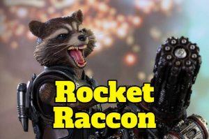 merchandising, figuras, juguetes rocket racoon