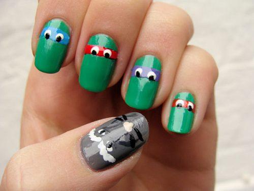 diseño de uñas frikis