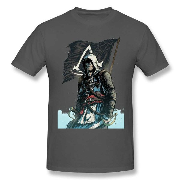 Camisetas Assassin's Creed color gris