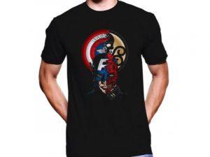 comprar la talla adecuada en camisetas de superhéroes, camisetas capitan america baratas
