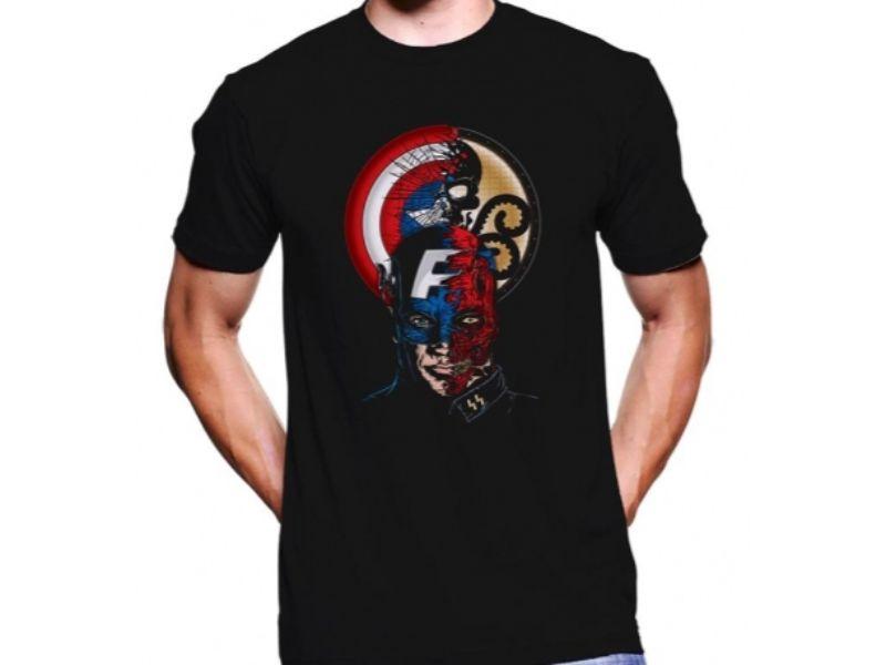 chico con Camisetas Capitán América
