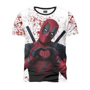 Camisetas Deadpool blanca